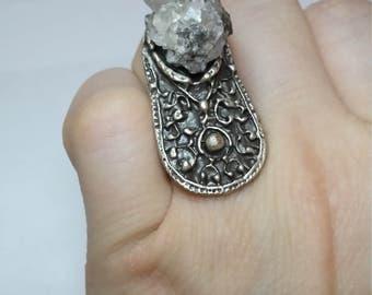 Earth Goddess - Genuine Smokey Quartz Crystal Ring