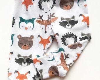 watercolor critter leggings | woodland animal joggers | newborn leggings | baby leggings | toddler leggings | trendy baby |