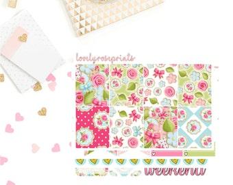 Floral Cookies White Space Vertical Weekly Kit