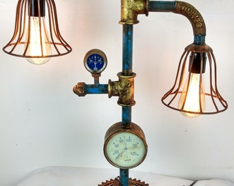 Industrial design lamp from water pipes lamp pipe Steampunk loft Retro Factory