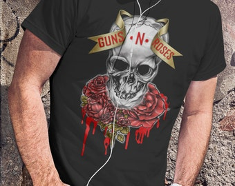 Guns n Roses  T-shirt Guns n Roses  Tshirt Guns n Roses Men Shirt Rock Tee Rocker T-shirt Design 2