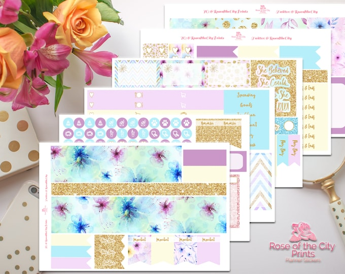 Featured listing image: Pastel Spring Deluxe Sticker Kit