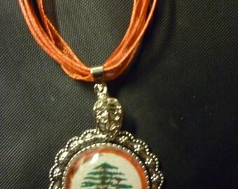 Lebanese Cedar Tree Pendant.
