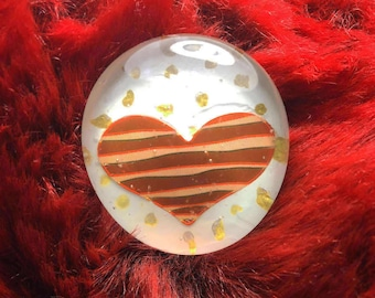 Heart Striped Pin