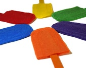 Colour Matching Popsicles, Rainbow Felt Popsicles, Felt Food Toy, Pretend Play Food, Fine Motor Skills, Montessori Toy, Colour Learning,Game