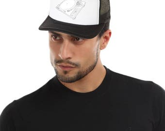 TECHNICS DJ Digital Turntable Trucker Hat. Music trucker hat, mesh hat, baseball cap, snapback, accessories by FET.tees.