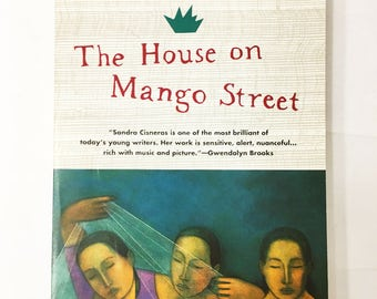 House on Mango Street Book.  Sandra Cisneros.  Paperback novel circa 1991.  Mexican-American.  Latina, Chicanos, Puerto Ricans