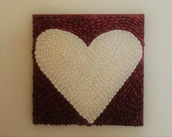 Heart Bean Mosaic Art (Set of 2)