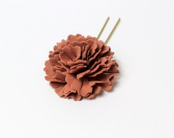 brown hair pin/for/girls gifts daughter flower hair pin daisy hair pin summer hair jewelry gift mom cute hair pin brown accessory gift T1