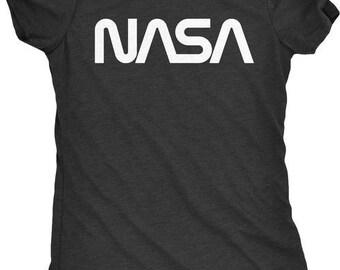 NASA 70s Worm Logo Women's Tri-Blend T-Shirt - Plus sizes available!