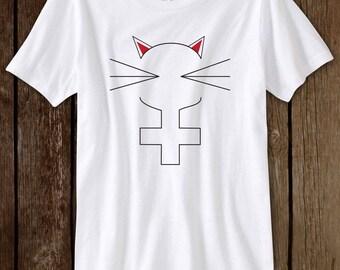 Cat Feminism Shirt Cute Funny Cat T-Shirt Meow Kitten Tee Meow Cat Lady