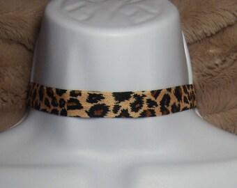 Animal Print Choker - Jewelry, Necklace, Gift, Birthday Gift, Jungle, Lion, Cheetah, Tiger