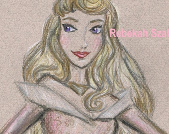 Aurora , Sleeping Beauty drawing