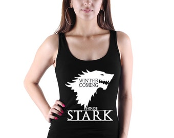 Winter Is Coming Tank Top - Game of Thrones Shirt - TV and Movie Shirts - Game Of Thrones House Stark Tank Top Shirt