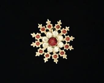 Red and White Rhinestone Pin    GJ2509