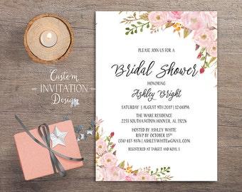 Bridal shower invitation rustic, Bridal shower invitation, bridal shower invites, bridal shower invitation template - US_BI0303d