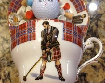 golf office decor. golf tea cup golfer gift tee office decor