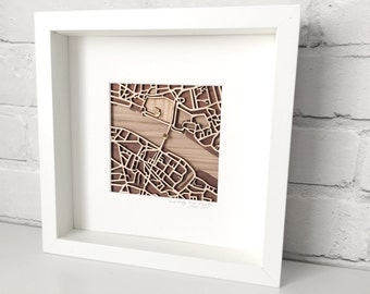 Limited Edition London Map - Tower Bridge - Tower of London - Laser Cut Map - London Gift - Map of London - Wooden Map - London Art