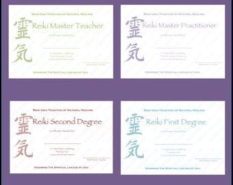 Download complete set reiki certificate templates x4 download complete set reiki certificate templates x4 landscape level 1 level 2 yelopaper Gallery