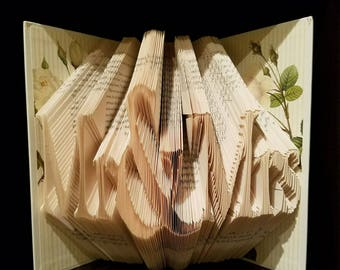 Mr and Mrs - Wedding Decor - Folded Book Art - Mr & Mrs