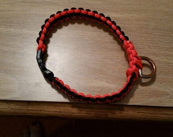 Dog collar....Bengals  black and orange