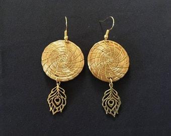 Golden Grass Earrings / Organic Jewelry / Capim Dourado Earrings / Brincas Oro Vegetal