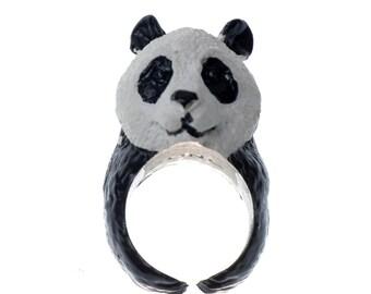 PANDA Ring/ 3D Panda Animal Ring/ Realistic Ring/ 3D Animal Ring/ Cute Animal Ring/ Giant Panda Ring