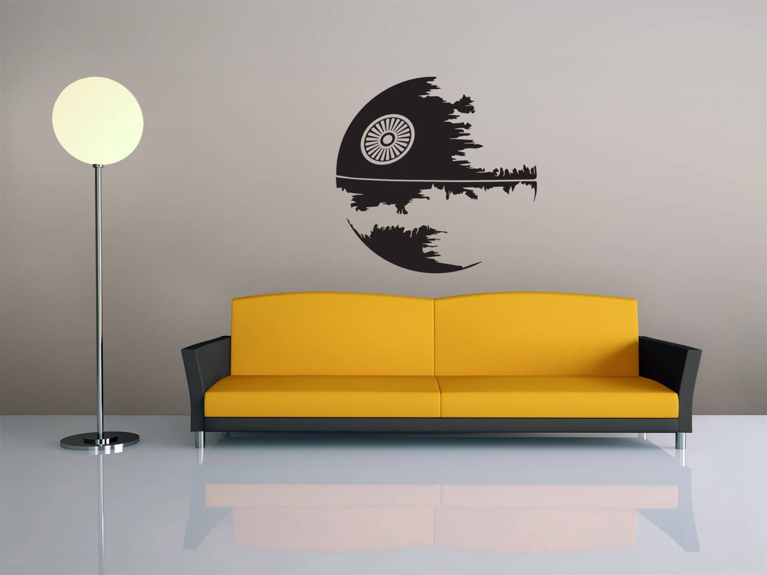 Star wars wall decal death star decal home decor wall art for Death star wall mural