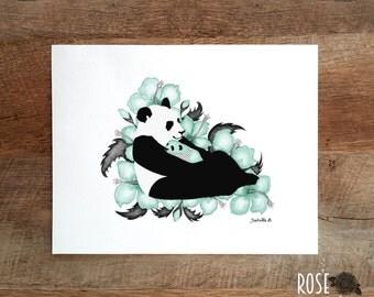 Poster 8x10, pandas, print baby's room