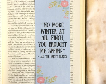 All The Bright Places Quote Bookmark