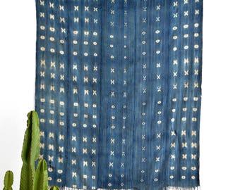 Mudcloth Blanket, African Mudcloth, Boho Blanket, Mudcloth Bedding, Mudcloth Throw, Zig Zag Mudcloth, Mudcloth Coverlet, Decorative Blanket