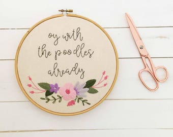 Gilmore Girls - Funny Art - Hand Embroidery Hoop Art - Inspirational Embroidery Art - Funny Embroidery - Netflix