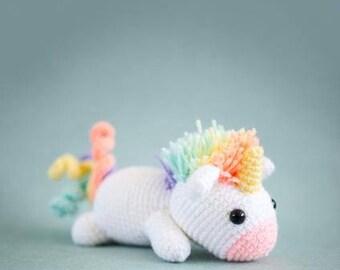 Lazy Rainbow Unicorn Amigurumi Plush Doll DIY Crochet Pattern (full of magic!)
