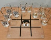 Quidditch tic tac toe game, Harry Potter shot glass game, HP game, Harry Potter shot glasses, Drinking Game, Shot glass