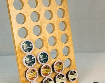K-Cup Holder for Countertop, K Cup Organizer, Kcup Holder, wooden K Cup stand