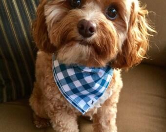 Plaid Dog Bandana, Dog Bandana, Dog Bandanas, Bandannas, Cotton Bandana, Pet Gift, Dog handkerchief, #dog, Dog Scarf, cat bandana