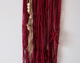 "Yarn Tapestry - ""Red Riding Hood"" (Medium Size)"