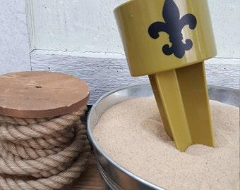 Saints Beach Spiker// New Orleans Beach Spiker// Who Dat// Louisiana Beach Spiker