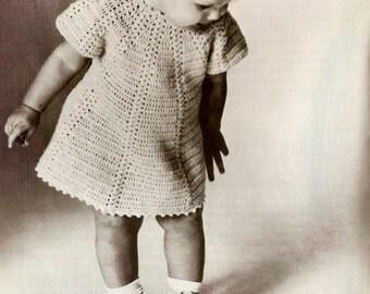 Vintage Girl's Dress Crochet Pattern