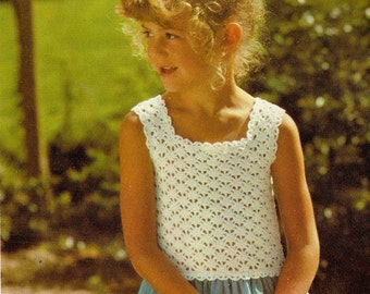 Vintage Lacy Top Crochet Pattern