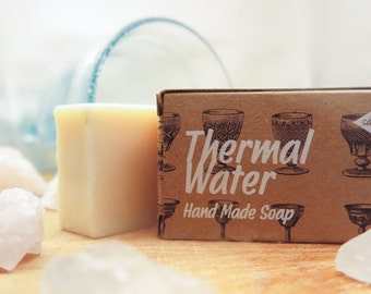 Thermal Water Soap,Olive oil soap,all natural soap,vegan soap,spring water soap,spa soap,cold process soap,bar soap,pure soap,organic soap