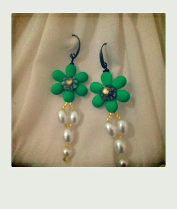 Flower Earrings made in italy