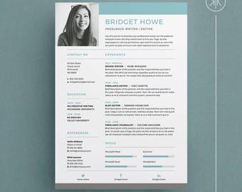 Bridget Resume/CV Template | Word | Photoshop | InDesign | Professional  Resume Design |  Resume Indesign Template