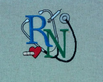 embroidered nurse bulletin board, magnetic-backed, two decorative pins