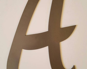 Letter A Metal Wall Home Decor.  Metal Wall Art. Metal Home Decor. Metal Letter A.  Metal Office Decor.  Gift!  Ready to Ship!