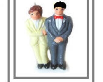 Adam & Steve (Groom and Groom) Candle