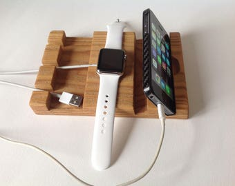 Father's Day Apple Watch Docking Station, Charging Station iPad Dock, Apple Watch Charger, Apple Watch Dock, Apple Watch Station iPhone Dock