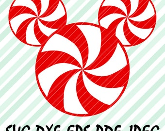 Lollipop Mickey Heads SVG DXF Vector Christmas Disney Design Cut Files for Cricut Design Space Cameo Silhouette Studio Transfer Tshirt Iron