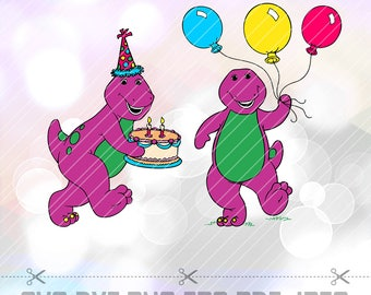 Barney and Friends SVG DXF Clipart Vector Cut File Silhouette Cameo Cricut Design Decal Vinyl Stencil Heat Transfer Tshirt Birthday Party