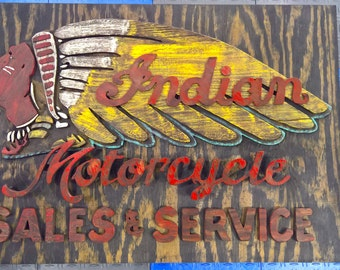 Indian Motorcycle Sign Recreation